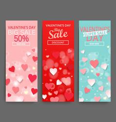 Sale header for happy valentines day celebration vector
