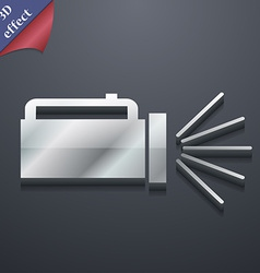 Flashlight icon symbol 3d style trendy modern vector