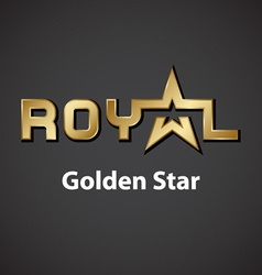 Royal golden star inscription icon vector