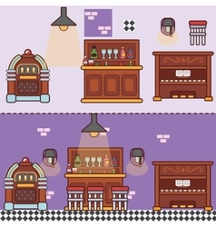 Bar restaurant cafe with furniture vector