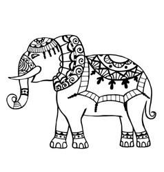 Carved elephant vector