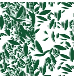 Green foliage seamless pattern vector