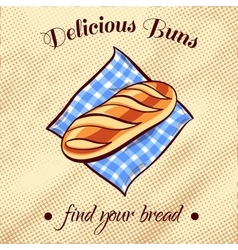 Bread on a napkin 2 vector