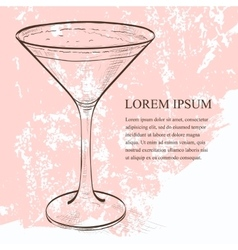 Cocktail espresso martini scetch vector