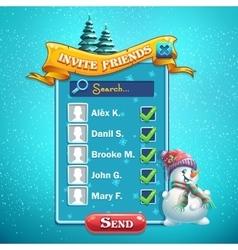 Invite friends window vector