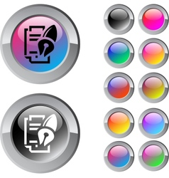 Form and pen multicolor round button vector