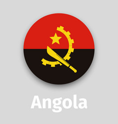 Angola flag round icon vector