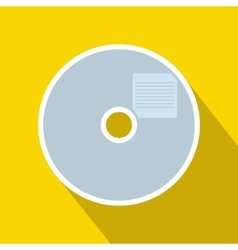 Blank cd icon in flat style vector