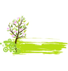 blossom tree grunge vector image vector image