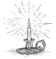 Candle engraving vector