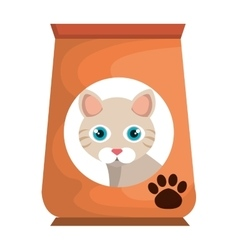 Cat bag food mascot vector