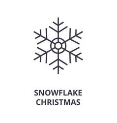 christmas snowflake line icon outline sig vector image
