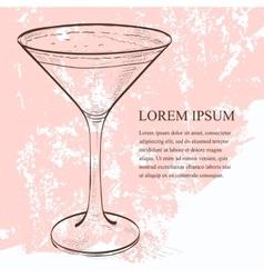 Cocktail espresso martini scetch vector