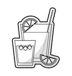 cocktail in embellished glass icon image vector image vector image