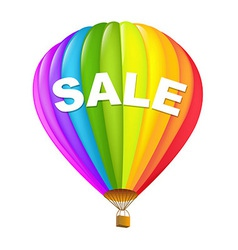 Colorful sale hot air balloons vector