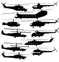 Contours of modern helicopters vector image vector image