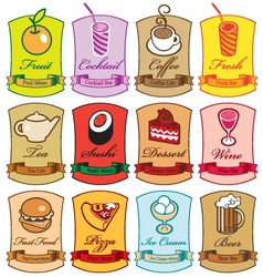 different menus vector image vector image