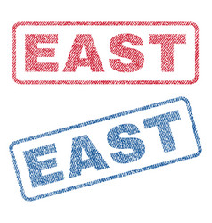 East textile stamps vector