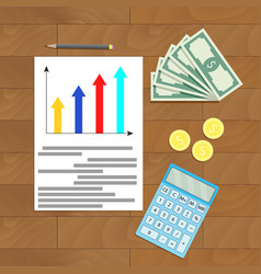 Economy finance document vector