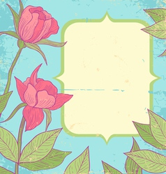 Flower vintage blue vector image