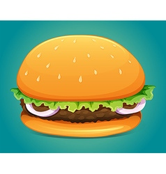 Hamburger with meat and veggie vector