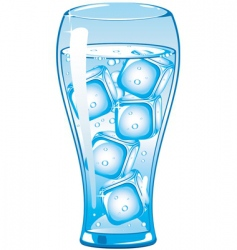 ice cold vector image vector image
