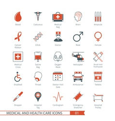 Medical and health care icons set 01 vector
