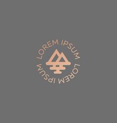 Mountain sea travel logo design creative modern vector
