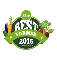 natural fresh food vegetables logo badge vector image