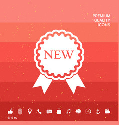 New offer icon with ribbons vector