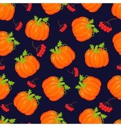 Orange pumpkins seamless pattern vector