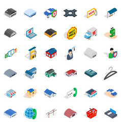 Privacy deposit icons set isometric style vector