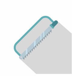 Surgical saw icon flat style vector