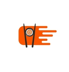 Sushi emblem logo vector