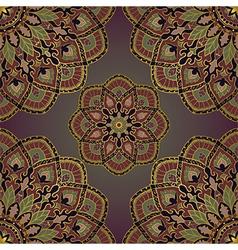Vintage pattern of mandalas vector image