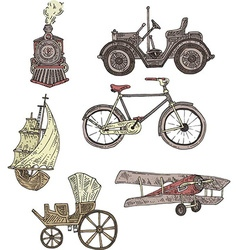 Vintage transportation vector