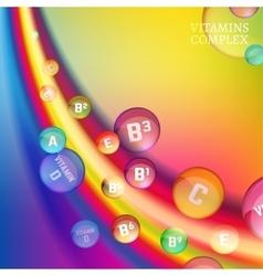 Vitamin complex image vector image vector image