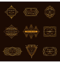 Wedding invitation cards - art deco vector