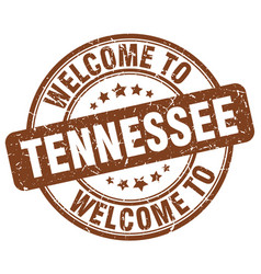 Welcome to tennessee brown round vintage stamp vector