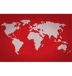 world map lovely knitting style vector image