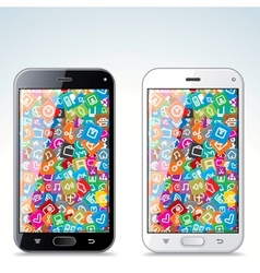 Black and white modern smart phone vector