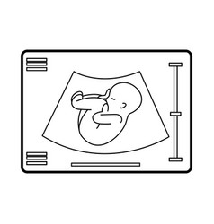 Ultrasound monitor isolated icon vector