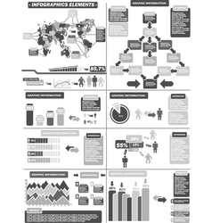 Infographic demographics 11 gray vector
