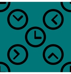 Watch web icon flat design seamless pattern vector