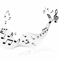 Musical note staff vector
