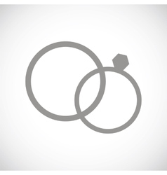 Marriage black icon vector