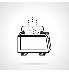 Toaster black line icon vector