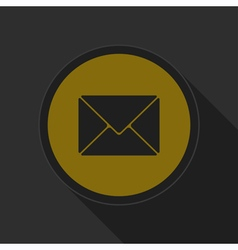 Dark gray and yellow icon - mailing envelope vector