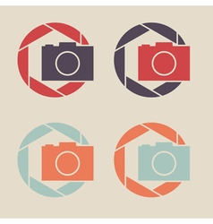 Digital camera icon shutter icon sign logo vector