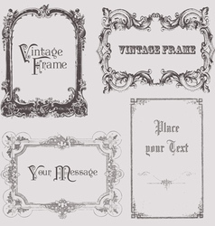 Vintage frames and design elements - with place fo vector